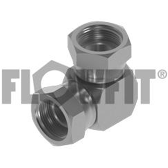 "BSP Swivel Female x BSP Swivel Female 90° Compact Elbow, 1/4"""" x 1/2"""""