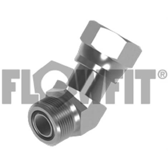 ORFS Male x ORFS Swivel Female 45° Forged Compact Elbow, 1-7/16""