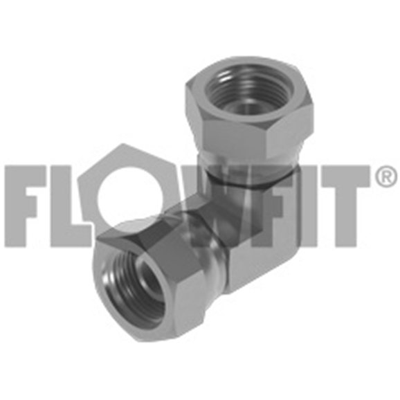 "BSP Swivel Female x BSP Swivel Female 90° Forged Compact Elbow, 3/8"" x 3/8"""