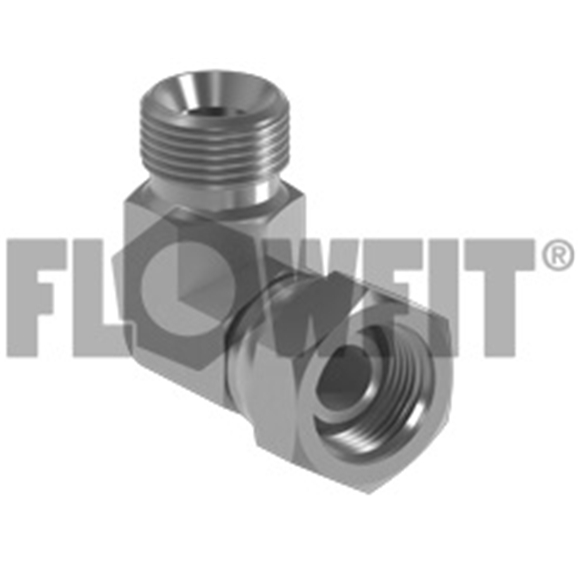 "BSP Male x BSP Swivel Female 90° Forged Compact Elbow, 3/4"" x 3/4"""