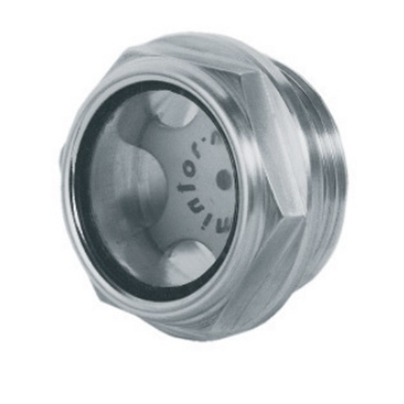 "Hydraulic visual level indicator with milled head, 1"""" BSP"