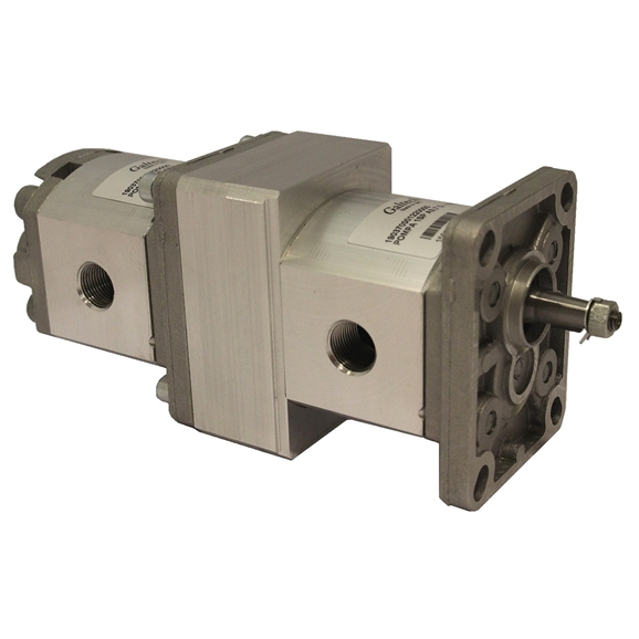 Group 1 to Group 1 Hydraulic Tandem Pump - 3.7 CC to 0.9 CC