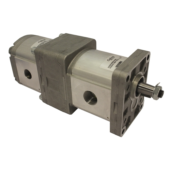 Group 2 to Group 2 Hydraulic Tandem Pump - 22.5 CC to 19.5 CC