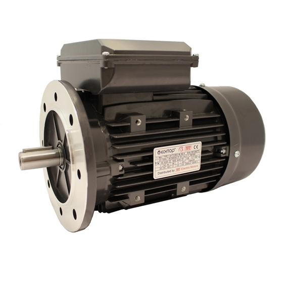 Single Phase 230v Electric Motor, 0.37Kw 4 pole 1500rpm with flange mount