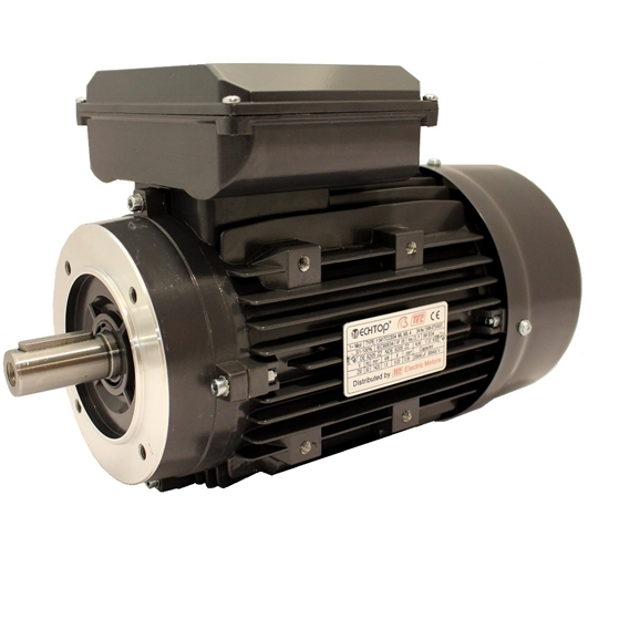 TEC Single Phase 230v Electric Motor, 0.25Kw 4 pole 1500rpm with face mount