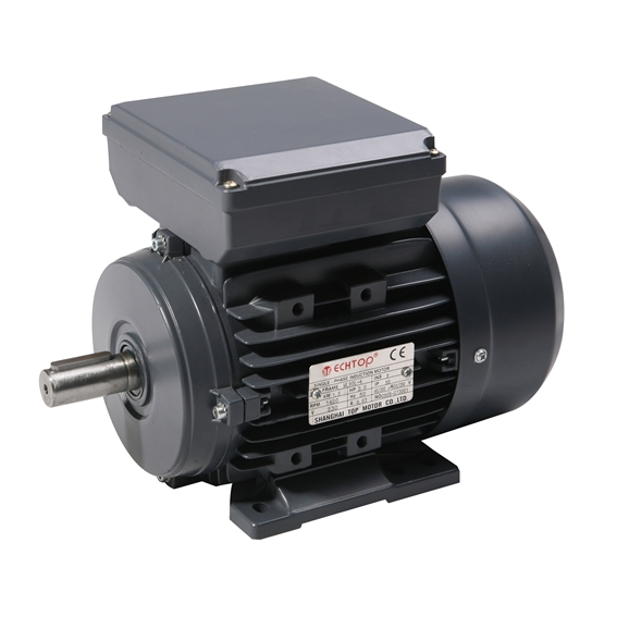 Single Phase 230v Electric Motor, 0.37Kw 4 pole 1500rpm with foot mount
