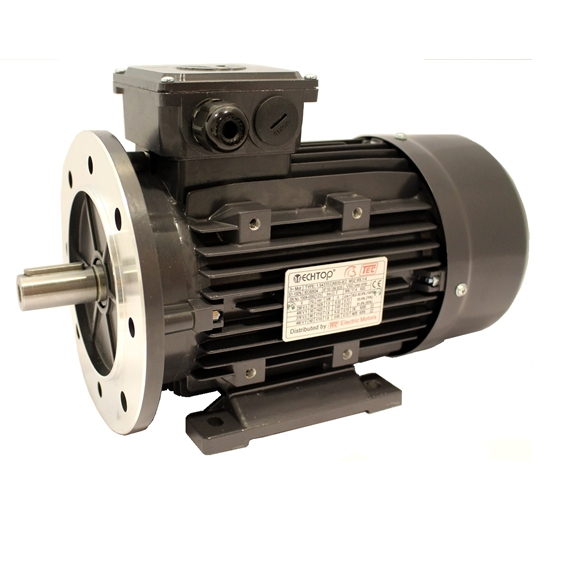 Three Phase 400v Electric Motor, 0.75Kw 4 pole 1500rpm with flange and foot mount
