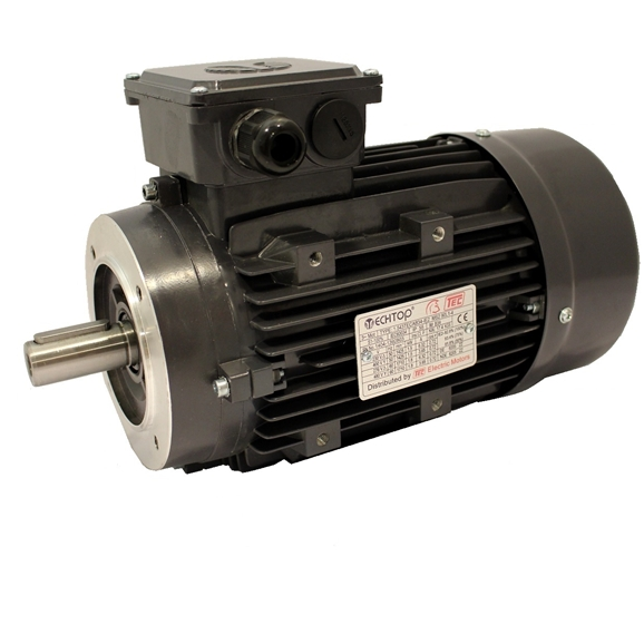 Three Phase 400v Electric Motor, 0.75Kw 4 pole 1500rpm with face mount