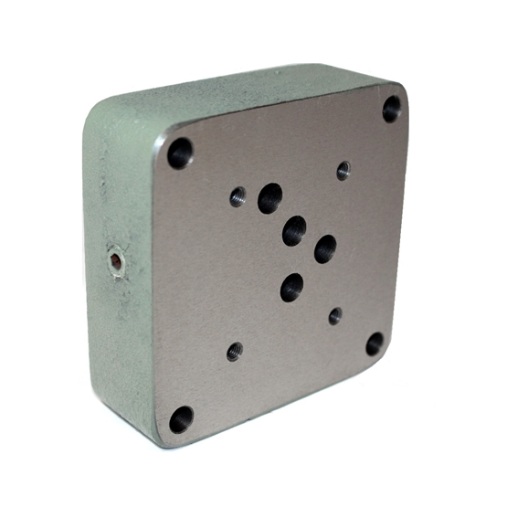 "Flowfit hydraulic cetop 5 subplate with base entry 1/2"""" BSP P+T, A+B SIDE"