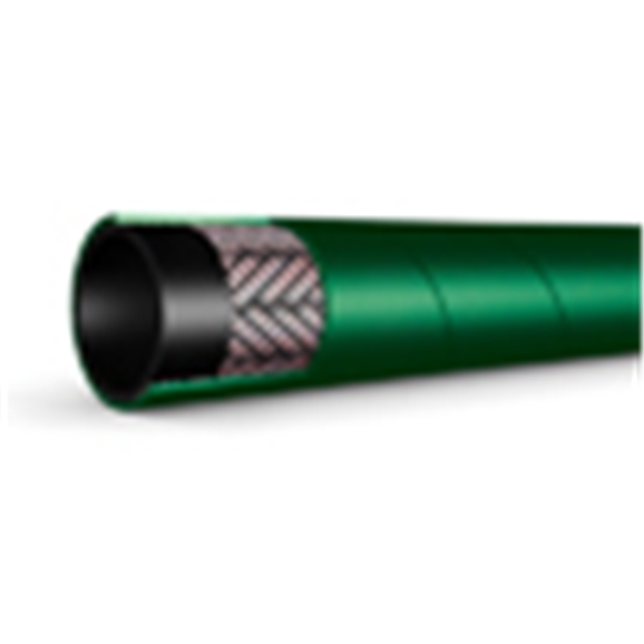 "Oil Return / Fuel Hose, EN854  SAE 100R6, 3/8"" Bore, 50 metre Coil, Green"