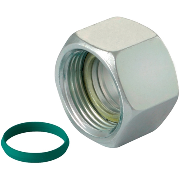 Walring Nuts C/W Profile Ring & O-Ring, Light Duty Viton, Thread Size M18 X 1.5, OD 12mm