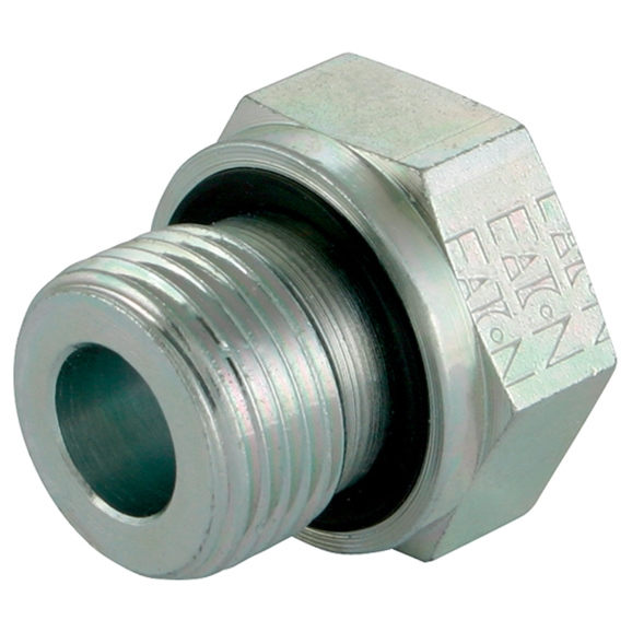 "Hydraulic Tube Reducing Bush, BSPP, Compact, 3/8"" Male BSPP Compact x 1/8"" Female BSPP Compact"
