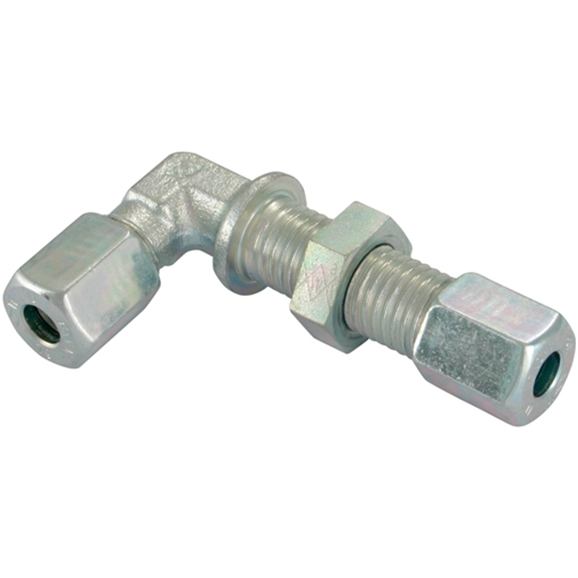 Bulkhead Elbows, Light Duty, Thread Size M26 X 1.5, OutsIDe Diameter 18mm