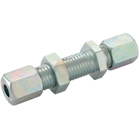 Bulkhead Couplings, Straight, Heavy Duty, Thread Size M36 X 2, OD 25mm
