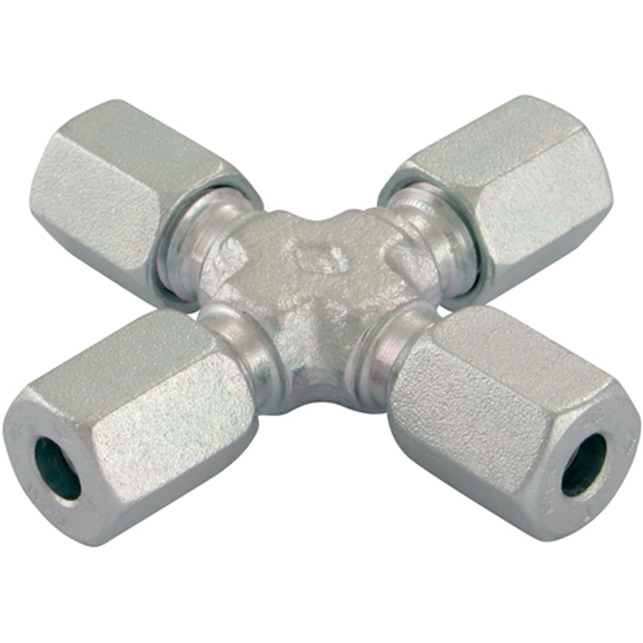 Tube To Tube Equal Crosses, Light Duty, OutsIDe Diameter 18mm