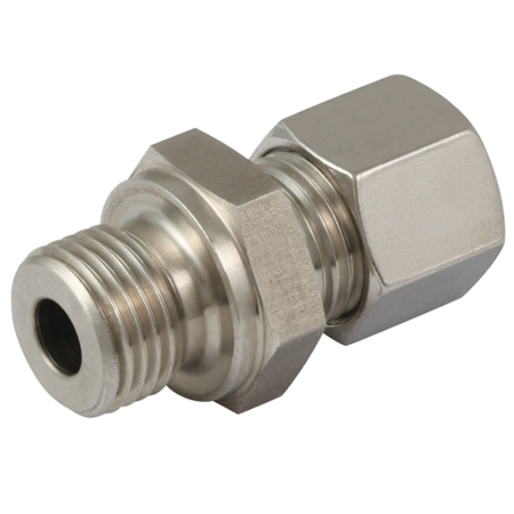 Hydraulic S series, 8mm hose OD, M14x1.5 Metric parallel, form B sealing, male stud coupling