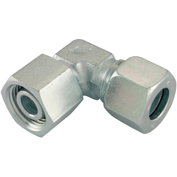 Adjustable Swivel Elbows, Light Duty, Thread Size M12 X 1.5, OD 6mm