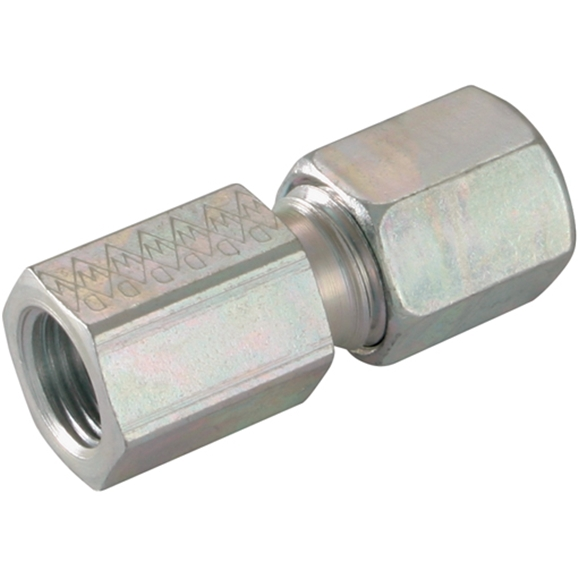 Female Stud Couplings, Metric, Light Duty, Thread Size M14 X 1.5, OD 10mm