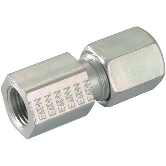 Femalee Stud Couplings, BSPP, Light Duty, Thread Size 1/4'', OD 8mm