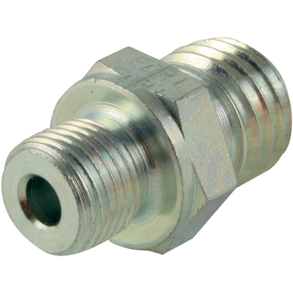 Male Stud Coupling, Light Duty, Form B, BSPP. Thread Size 1/8'', OD 6mm