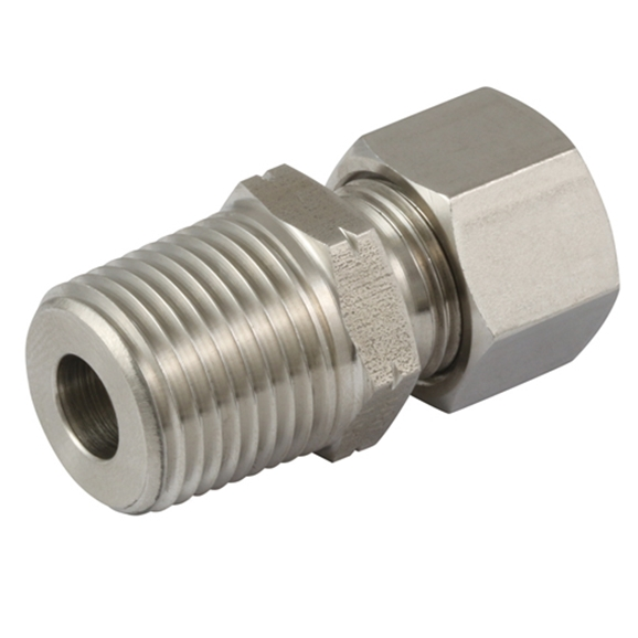 Male Stud Couplings, L Series, BSPT, Thread Size 3/8'', OD 8mm