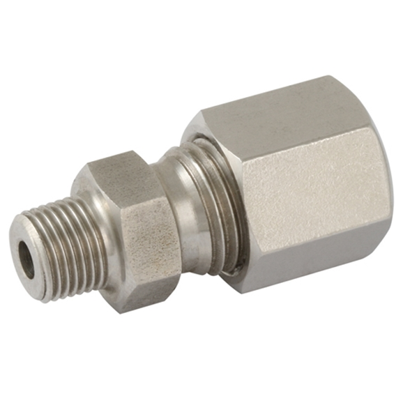 Male Stud Couplings, S Series, BSPT, Thread Size 3/8'', OD 16mm