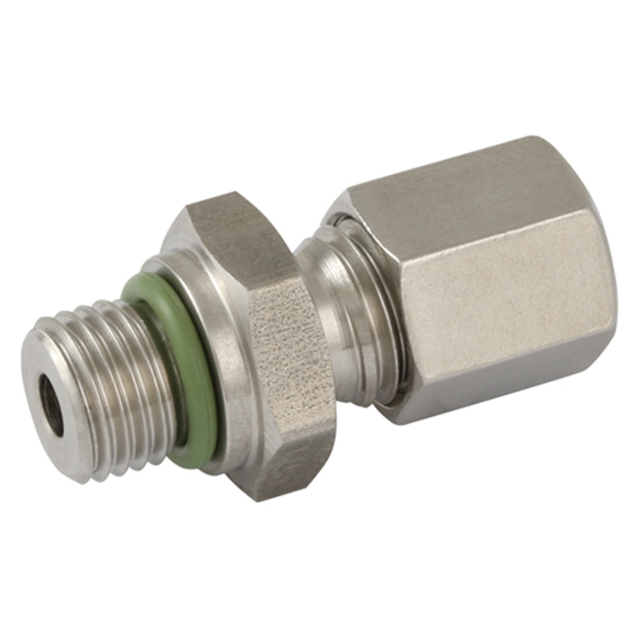 Male Stud Couplings, L Series, UNF, O Ring Sealing, Thread Size 1.5/8'', OD 35mm