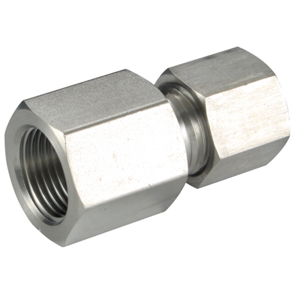 Female Stud Couplings, S Series, NPT, Thread Size 3/8'', OD 12mm