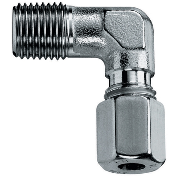 "Male Stud Elbows, LL Series, 1/8"""" BSPT, hose OD 8mm"