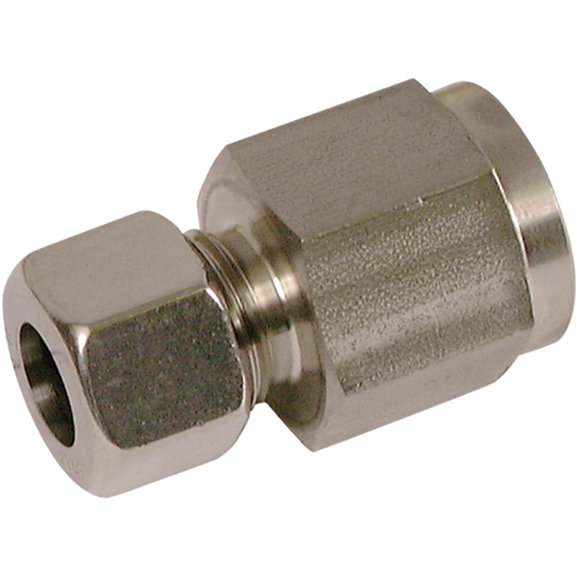 "Gauge Coupling, S Series, 1/2"" BSPP, hose OD 6mm"