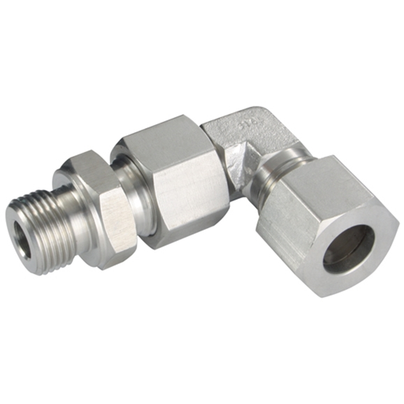 Adjustable Elbows, L Series, BSPP, Metric, Male Thread 1/4'', OD 8mm