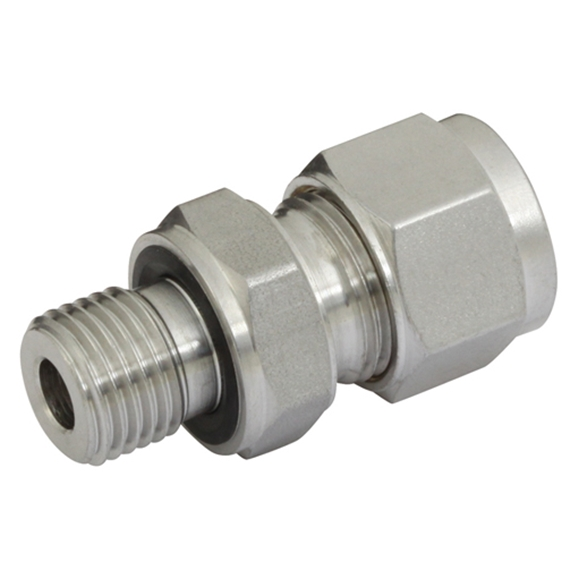 "Male Connectors, Male Thread (Captive Seal) 1/2"" BSPP, hose OD 1/4"""