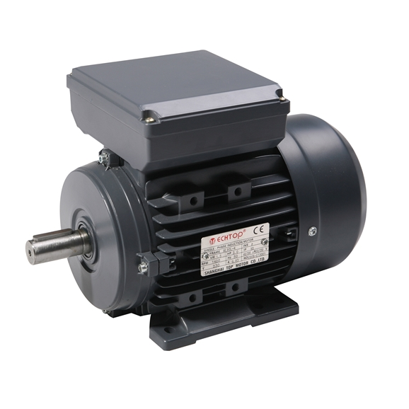 Single Phase 110v Electric Motor, 0.55Kw 4 pole 1500rpm with foot mount