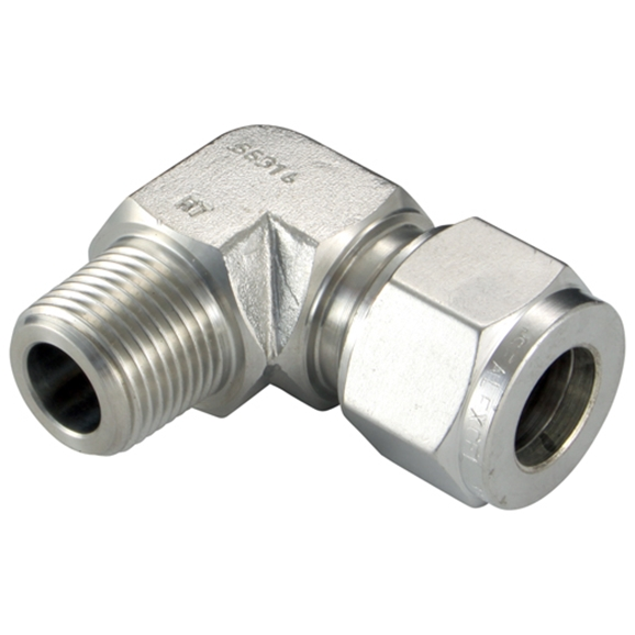 "Male Elbows, Male Thread, 3/8"" BSPT, hose OD 1/4"""