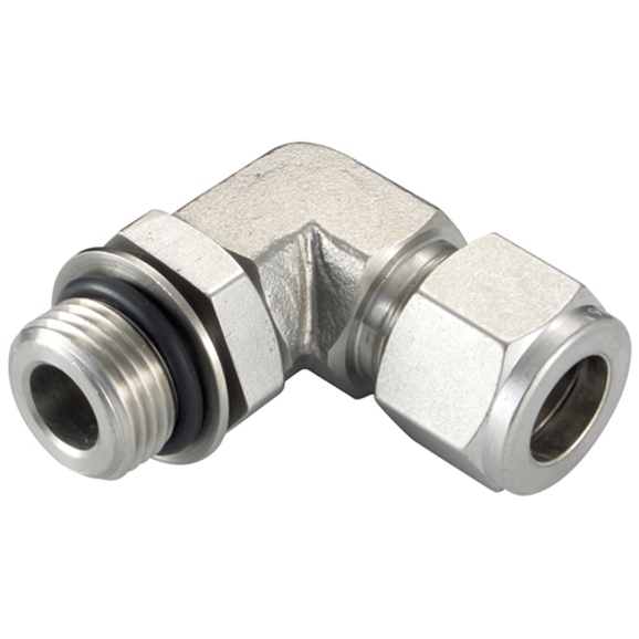 "Positionable Elbows, Male Thread, 3/8"" BSPP, hose OD 1/2"""
