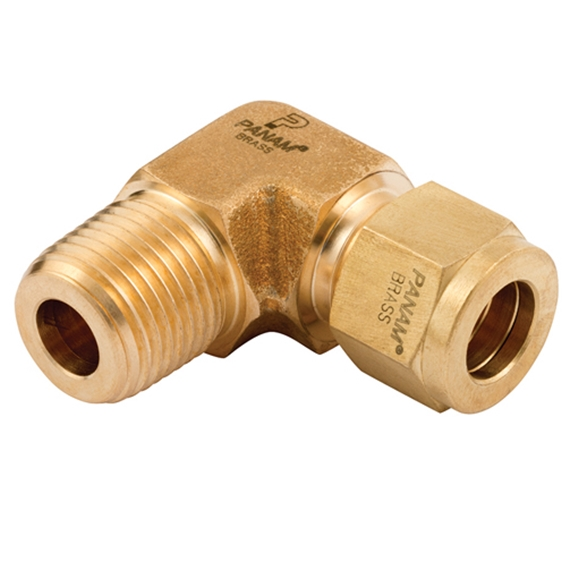Male Elbow Connector, Male Thread, NPT, Thread Size 1/2'', OD 3/8''