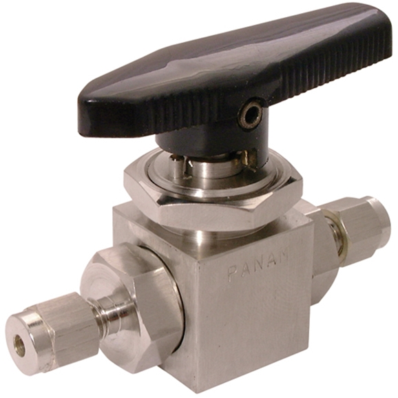 Ball Valves, Compression, 2 Way, Tube OD 1/8""