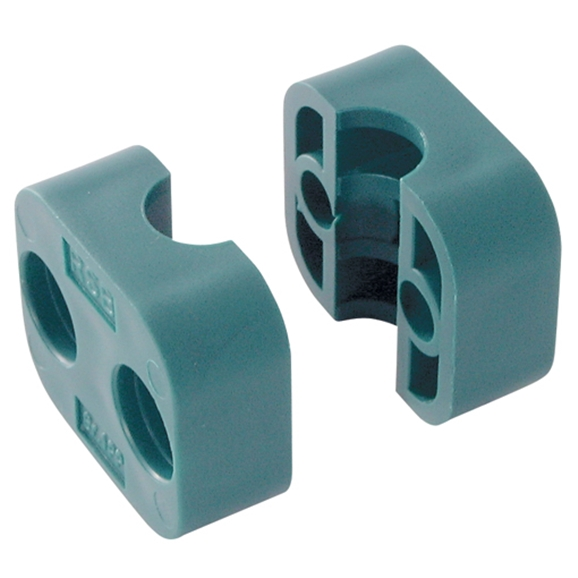 Series A Light Duty Clamp Halves, Single Polypropylene, OutsIDe Diameter 13.5mm