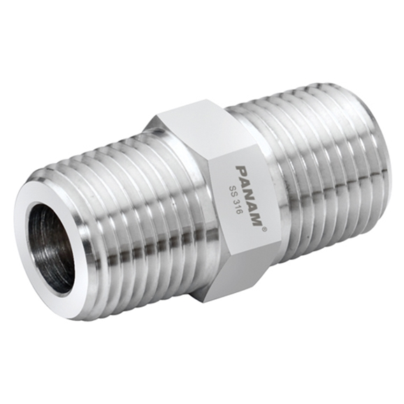 Male x Male Straight Adaptors, BSPT x BSPT, Thread Size A 2'', Thread Size B 1.1/2''