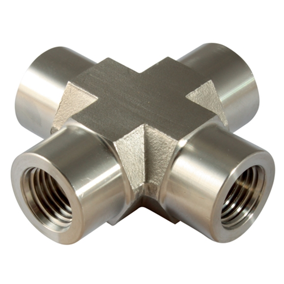 Equal Crosses, Female, NPT, Thread Size 1/4''