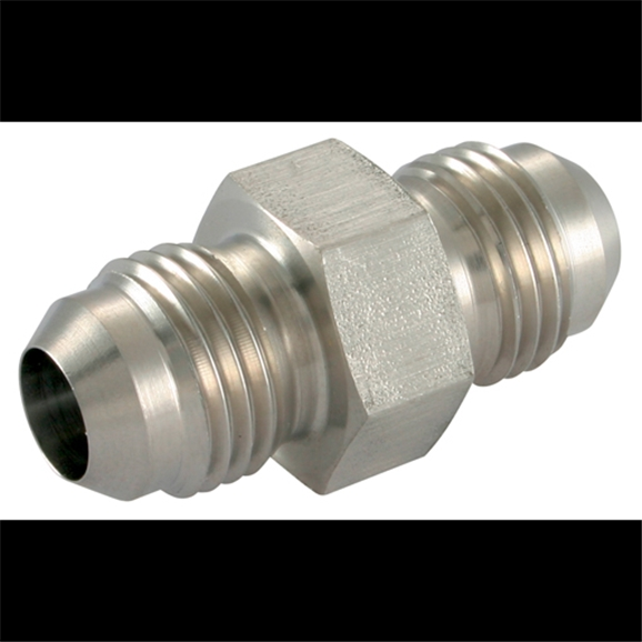 Stainless Steel, Male Stud Coupling, UNF x UNF, 9/16''-18