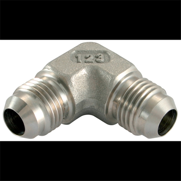 Stainless Steel Fixed Elbow, UNF Male x UNF Male, 9/16'' - 18