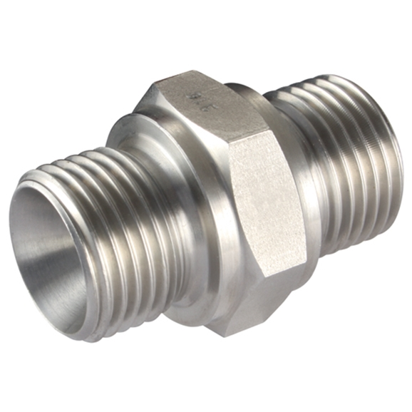 Male x Male Straight Adaptors, BSPP x BSPP, Thread Size A 3/4'', Thread Size B 1''