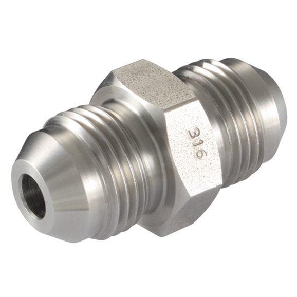 "Male x Male Straight Adaptors, JIC x JIC, Thread Size A 1.1/16"", Thread Size B 1.5/16"""