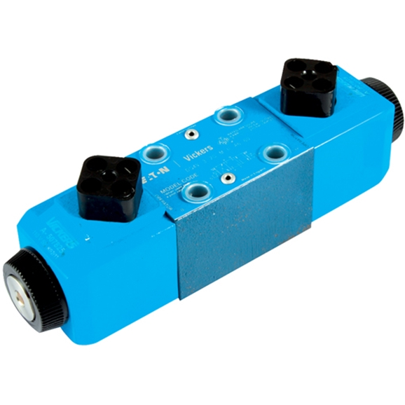 Cetop 3 Solenoid Valve, 3 Position, All Ports Closed, Spring Centred, Water Resistant Override, 12V DC Voltage