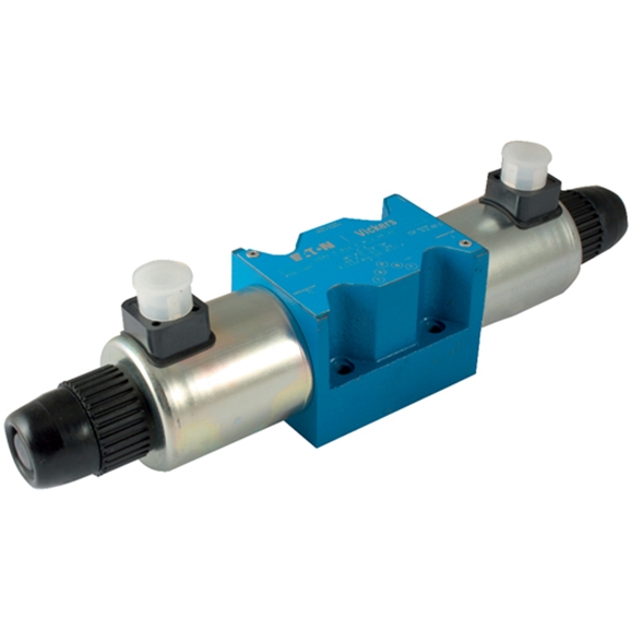 Cetop 5 Solenoid Valve, P & T Connected, A & B Blocked, Spring Centred, Water Resistant Override, 24V DC Voltage