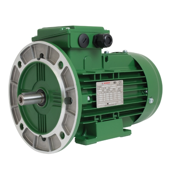 IE3 Electric Motors Swea Series, Aluminium, 3 Phase, 4 Pole, 400V/50Hz, B35 (Foot & Flange) Mounting, IP55 Rated, Kilowatt 0.75, Frame Size 80M2