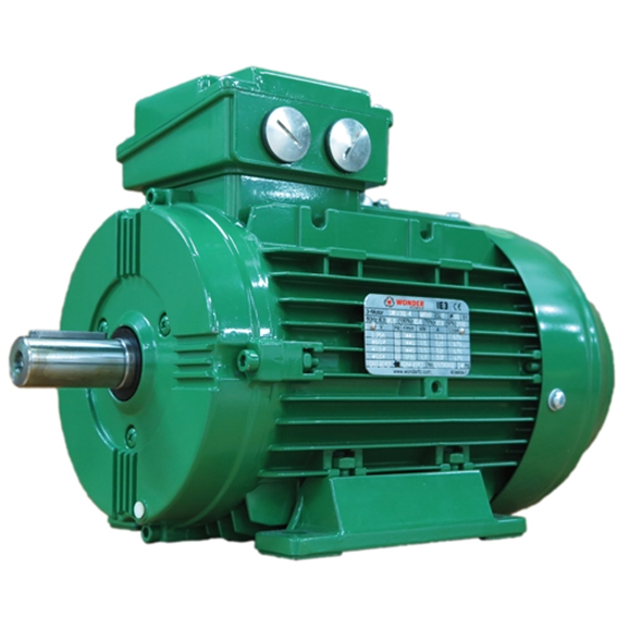 IE3 Electric Motors, SWE Series, Cast Iron, 3 Phase, 4 Pole, 400V/50Hz, B3 Mounting, IP55 Rated, Kilowatt 18.5, Frame Size 180M