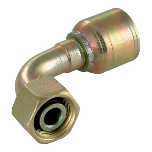 "DKO Female Swivel, Light Duty, 90° Elbow - M12 x 1.5, suits 1/4"" Hose"