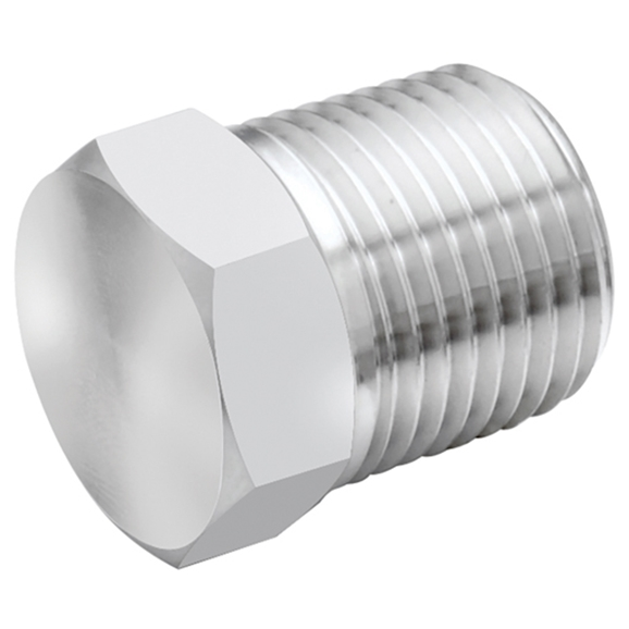 Stainless Steel, BSPT Plug, 1/8""